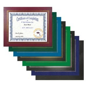 Certificate Holder - Leatherette Certificate Frame
